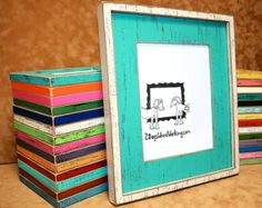 16x20 picture frame bright colored frame distressed frame weathered shabby chic frame
