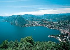 this is a nice panoramic view over the City of Lugano/Switzerland