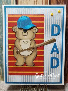 Stampin Up Paper Pumpkin, Bear Card, Just Love, December, Father, Baseball Cards, Sports, Kids, Crafts
