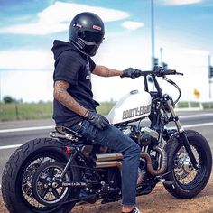 Jaw-Dropping Useful Ideas: Harley Davidson Vintage Awesome harley davidson iron 883 dark.Harley Davidson Home Decor Cars harley davidson panhead cafe racers.Harley Davidson Motos Forty Eight. Bobber Helmets, Motos Bobber, Bobber Bikes, Bobber Motorcycle, Bobber Chopper, Cool Motorcycles, Motorcycle Style, Rat Bikes, Harley Davidson Sportster