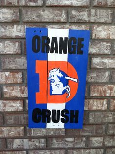 Broncos Wall Art old school denver broncos logo wall art made from pallet wood on