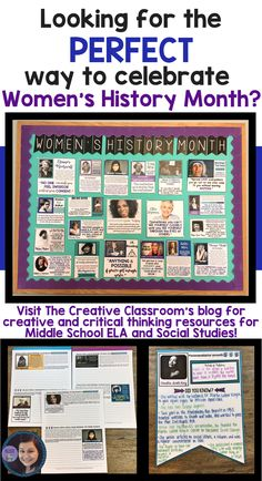 Women's History Month Activities, Bulletin Boards, and Ideas from The Creative Classroom