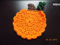 Check out this item in my Etsy shop https://www.etsy.com/listing/246098183/crochet-pumpkin-coasters