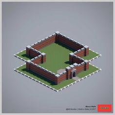 2017 World-o-Walls (Redux) Minecraft Medieval, Minecraft Plans, Minecraft Blueprints, Cool Minecraft, Minecraft Creations, Minecraft Wall Designs, Minecraft Small House, Minecraft Decorations, Minecraft Projects