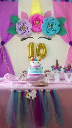 Como hacer un fondo de uniconio para tu fiesta em 2019 7th Birthday Party Ideas, Unicorn Themed Birthday Party, Girl Birthday Decorations, Birthday Balloons, Unicorn Party, Twinkle Twinkle Little Star Decorations, Creations, Pony Party, Baptism Ideas