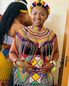 Zulu Traditional Wedding Dresses, Zulu Traditional Attire, South African Traditional Dresses, Traditional Dresses Designs, African Traditional Wedding, Traditional Outfits, African Fashion Skirts, African Wear Dresses, African Wedding Dress