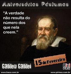Galileu Galilei || #aniversário #citação #citações #frase #frases #postumo