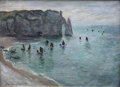 Claude Monet: Étretat, la porte d'Aval (1886)
