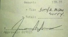 Spending �9.50 on a cocktail and then not tipping.