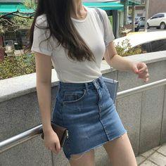 Summer Outfits Korean Outfits - Summer Outfits for Work Korean Summer Outfits, Classy Summer Outfits, Korean Fashion Summer, Korean Girl Fashion, Korean Fashion Trends, Korean Street Fashion, Cute Casual Outfits, Simple Outfits, Asian Fashion