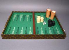 Louis Vuitton Monogram Backgammon Game Se...Would love this!