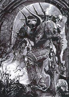 comission warhammer chaos marine by nebezial on DeviantArt Warhammer 40k Figures, Warhammer Art, Warhammer 40000, Space Fantasy, Fantasy Armor, Space Marine, Grafik Design, Sci Fi Art, Fan Art