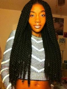 Groovy Kinky Twists Braided Hairstyles And Hairstyles For Black Women On Hairstyles For Women Draintrainus
