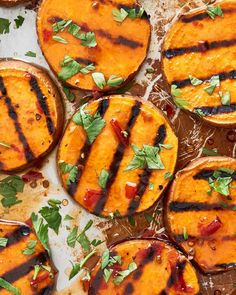 Simple grilled sweet potatoes pair deliciously with a spicy honey-lime vinaigrette.
