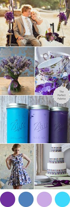 Wedding Colors I Love | Shades of Purple   Blue!