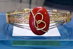 7 Wire Bracelet with Cabochon Gemstone & by BobsFashionJewelry, $39.95
