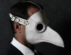 This mask doesn't come from a scary movie. It's based on real masks that 17th and 18th century European doctors wore during the Bubonic Plague.
