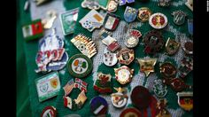 Badges adorn an Ireland fan's scarf ahead of the group C match between Italy and Ireland. CNN.com