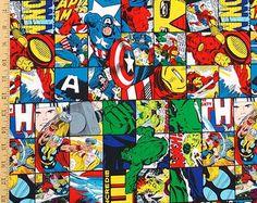 Super héroe tela Marvel Comics tela tela de por SaltnPepperDesign