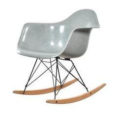 Eames Sea Foam Green RAR Herman Miller USA 'Zenith' Rocking Chair
