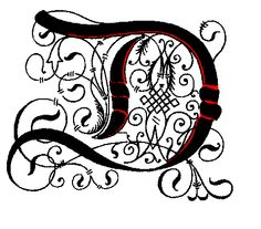 Illuminated Letter N Coloring Page sketch template