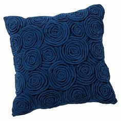 Rose Twist Pillow Covers #pbteen navy