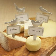 Cheese and birds together!?  I've died and gone to heaven.