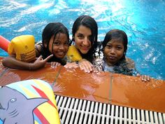 Fifteen children started daily swimming lessons with Sreyka Smile volunteers & Mrs Olivia Dehnavi. Knowing to swim can saves lives in Cambodia. The drowning rate is still too high.