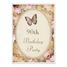 90th Birthday Invitations, 1300+ 90th Birthday Announcements & Invites