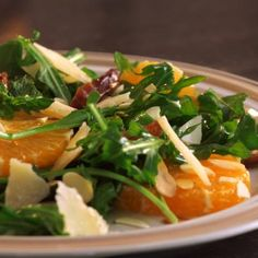 The flavor of this arugula salad is divine from the blood oranges, dates, parm cheese, and almonds. Great opportunity to use the special finishing olive oil you have sitting around.