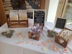 Personalised Order of Service, Confetti and Tissue Packs. What an amazing idea!