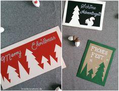 DIY Weihnachtskarte: Tannenbäume // DIY Christmas Cards with Christmas Tree Motives