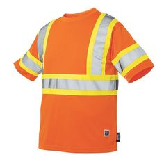 Big & Tall Work King High Visibility Arm-Band Safety Tee, Men's, Size: XXL, Orange