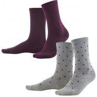 Pack de 2 calcetines otoño mujer 98 algodón orgánico Living Crafts