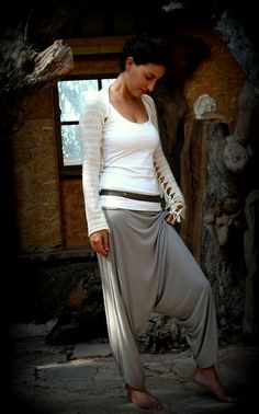 Aladin pants, elastic belt and shoulder cover made in handmade- tike studio fall 2013 collection https://www.facebook.com/pages/Tike-studio-%D7%AA%D7%99%D7%A7%D7%94-%D7%A1%D7%98%D7%95%D7%93%D7%99%D7%95/193234090703340?ref=hl