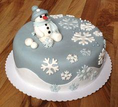 Zimní dort se sněhulákem - klikni pro větší velikost