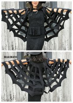 No-Sew Spiderweb Cape TUTORIAL