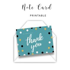 Green Dots Thank You Card  Planner printables  #collage #life #personal #templates #monthly #daily #teacher #business #financial #student #fitness #weekly #makeyourown #organization