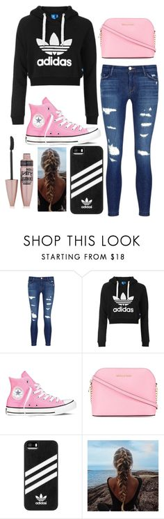 """School Outfit"" by hipopaws on Polyvore featuring J Brand, Topshop, Converse, MICHAEL Michael Kors, adidas and Maybelline"