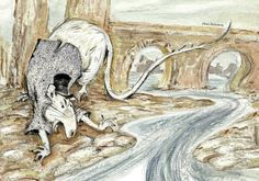 Portrait Of Angry White Rat In Jacket And Top Hat On River Bank - Ancient Stone Bridge In Background Painting by Elena Abdulaeva Funny Rats, River Bank, Framed Prints, Canvas Prints, Childrens Books, Fairy Tales, Moose Art, Bridge, My Arts