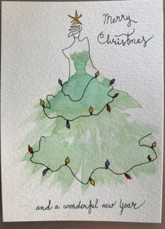 aquarell weihnachten Most current Screen Christmas cards painted Concepts Xmas along with the Fun Period usually are quickly approaching. The earlier you will get prepared by Christmas Tree Drawing, Watercolor Christmas Cards, Cool Christmas Trees, Diy Christmas Cards, Noel Christmas, Christmas Paintings, Watercolor Cards, Xmas Cards, Vintage Christmas