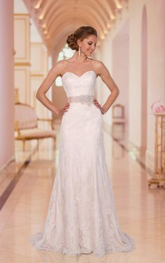 Beautiful A-line Floor-length Wedding Dresses,Online Wedding Dresses,Wedding Dresses