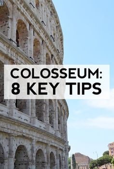 Visiting the Colosseum in Rome? Check out these key tips and don't wait in the long line! #rome #italy #travel