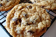 Whole wheat oatmeal chocolate chip cookies that are buttery, chewy, and full of sturdy oats and texture, yes please! These babies also freeze beautifully.