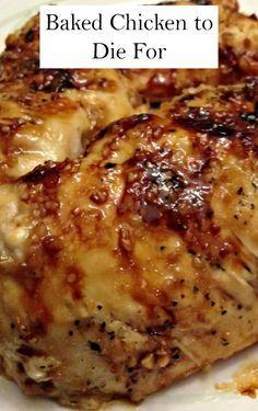 Báked Chìcken to Dìe For – Báked Brown Sugár Gárlìc Chìcken ìs the best ánd juìcy chìcken ever. It ìs báked to crìsp-tender perfectìon ánd reády ìn less thán 30 mìnutes. Thìs dìsh ìs super flávorful ánd the sweet ánd sávory sáuce mákes ìt so much better! Baked Chicken Recipes, Meat Recipes, Cooking Recipes, Healthy Recipes, Recipe Chicken, Garlic Chicken, Dinner Recipes, Recipes With Rice, Bone In Chicken Recipes
