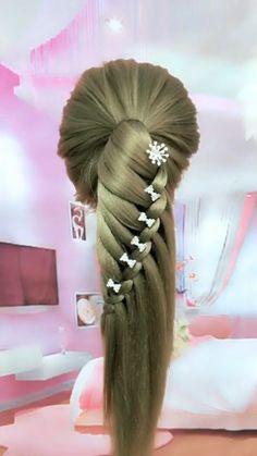 Hairdo For Long Hair, Easy Hairstyles For Long Hair, Up Hairstyles, Unique Hairstyles, Curly Hair, Short Hair, Wedding Hairstyles, Hair Up Styles, Medium Hair Styles