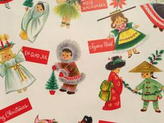Vintage Christmas Gift Wrapping Paper  by TheGOOSEandTheHOUND, $10.00