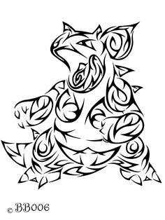 Tribal Nidoqueen tattoo