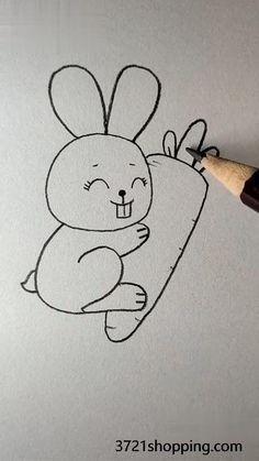 Easy Drawings For Kids, Art Drawings Sketches Simple, Pencil Art Drawings, Doodle Drawings, Drawing For Kids, Cute Drawings, Colorful Drawings, Drawing Ideas, Easy Disney Drawings
