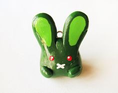 Polymer Clay Zombie Bunny Rabbit Charm by MadAristocrat on Etsy, $12.00